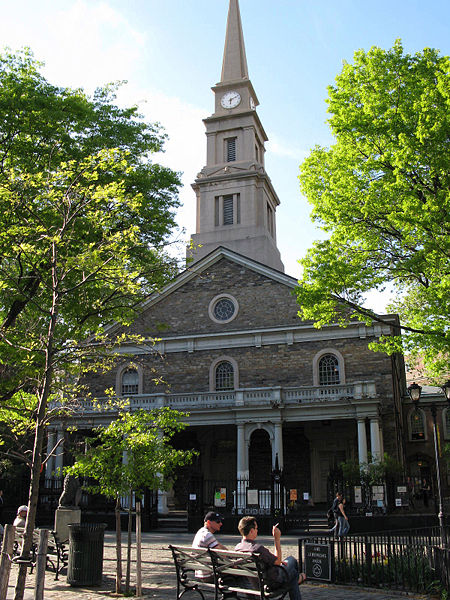 St. Mark's Church in the Bowery, Manhattan. Image 1